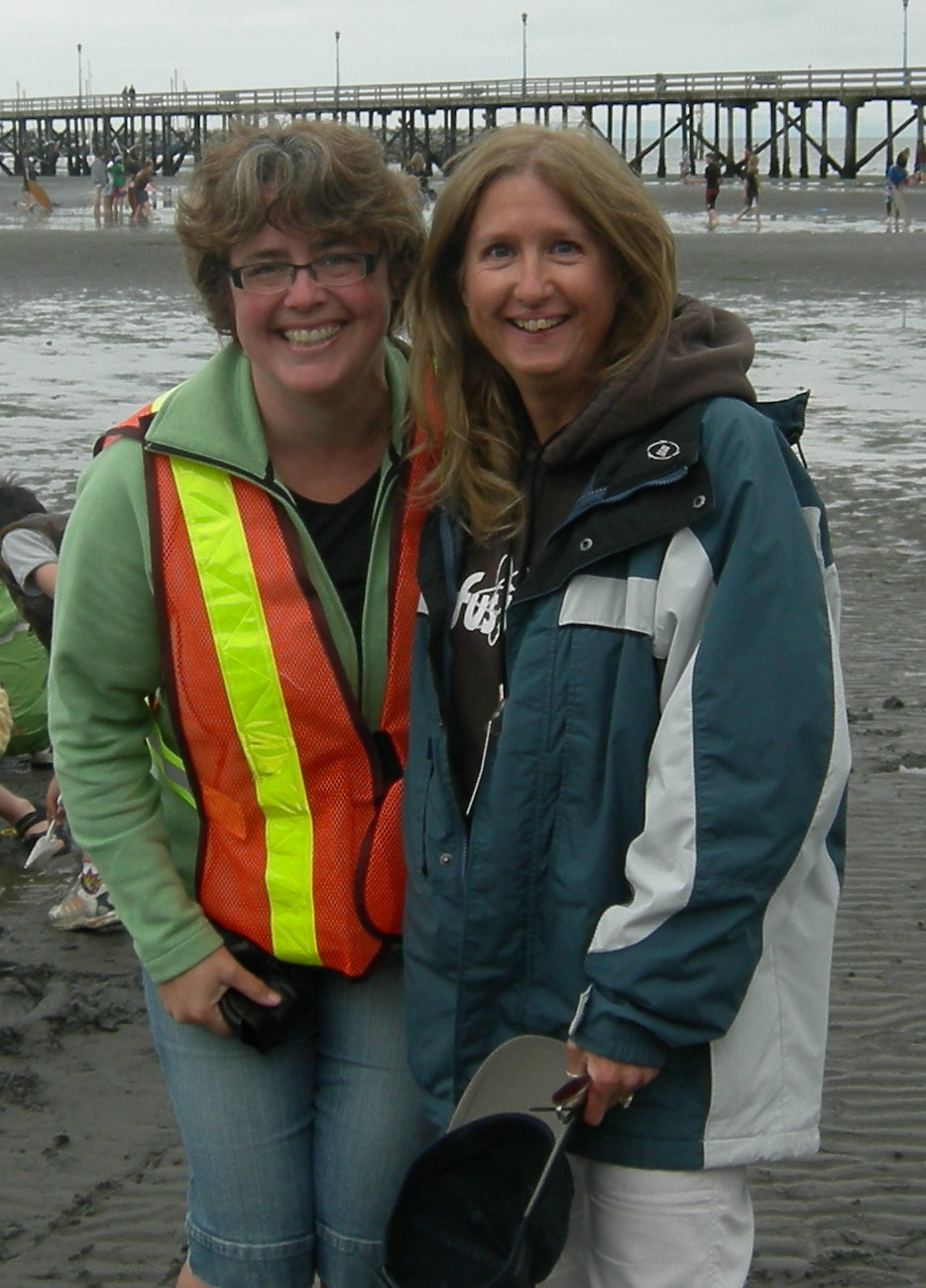 Yvonne and Maggie at White Rock Beach