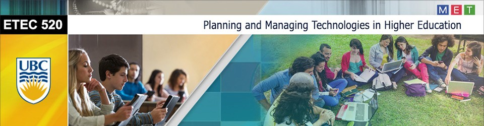 ETEC 520 Planning and Managing Technologies in Hig