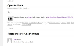 Open Attribute plugin now available.