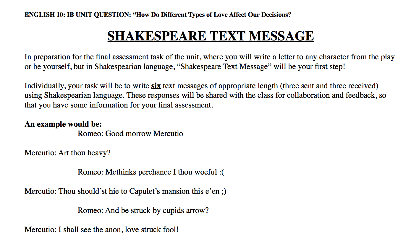 romeo juliet text response essay Personal response essay romeo and juliet also show their determination to be documents similar to personal response essay - out of the cradle endlessly rocking.