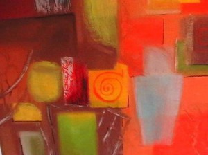Messy room, Pastel,50cm by 70 cm