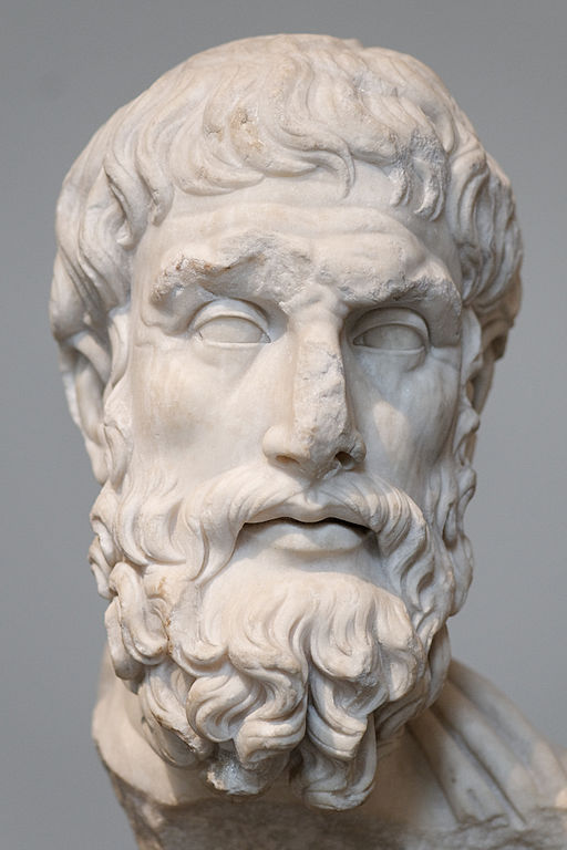 Epicurus, from the Metropolitan Museum of Art, by Marie-Lan Nguyen on Wikimedia Commons, licensed CC BY 2.5